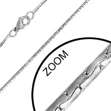 Chainlet made of steel with full, small and double oval