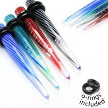 Acrylic UV expander - spiral swirl, two rubber bands