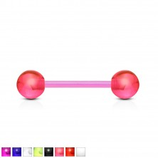 Flexible UV tongue barbell