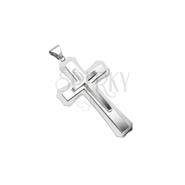 Surgical steel pendant - massive cross