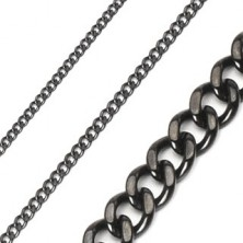 Stainless steel chain in black colour