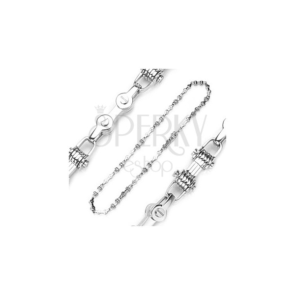 Chain made of 316L steel - imitation of bicycle chain, silver colour
