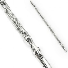 Surgical steel bracelet - spring and movable cylinder