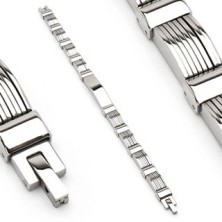 Surgical steel bracelet with arcs in multiple layers
