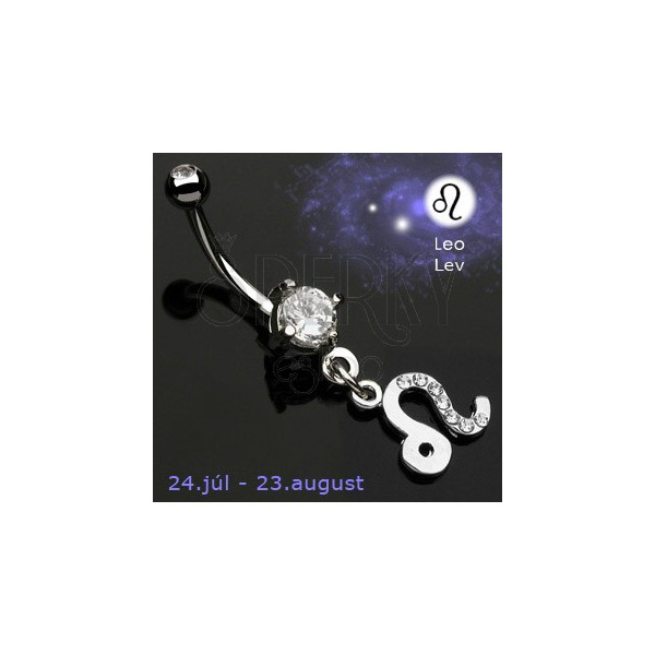 Zodiac belly button ring - Leo