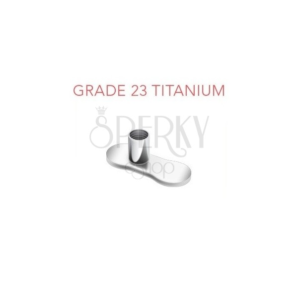 Titanium bottom dermal anchor for implantate without holes