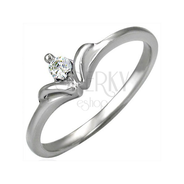 Royal crown engagement ring