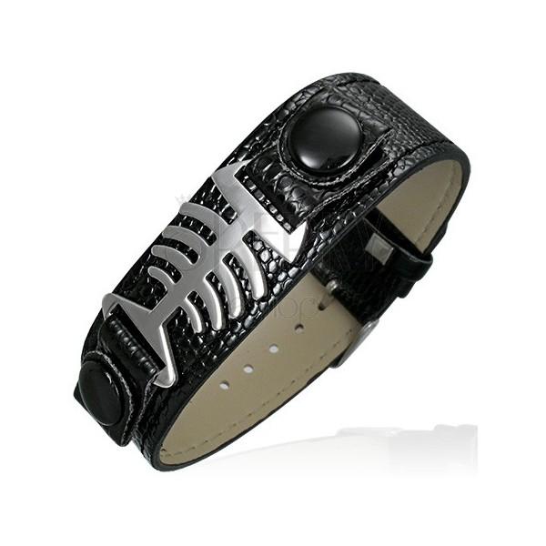 Bracelet made of snakeskin imitation - fish bone
