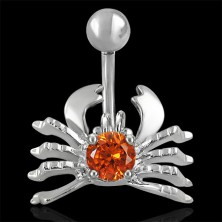 Crab belly ring - topaz zircon