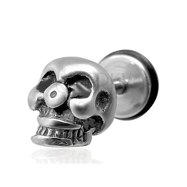Skull fake ear plug