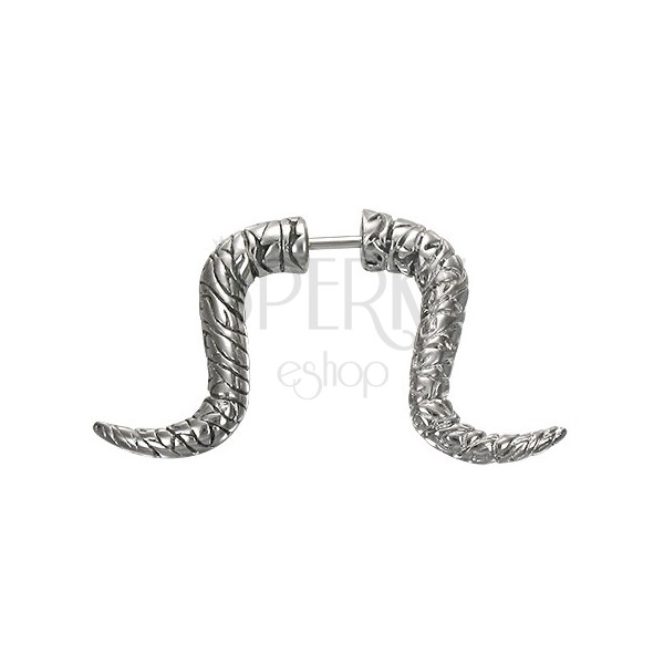 Curved horn fake expander with fluted pattern