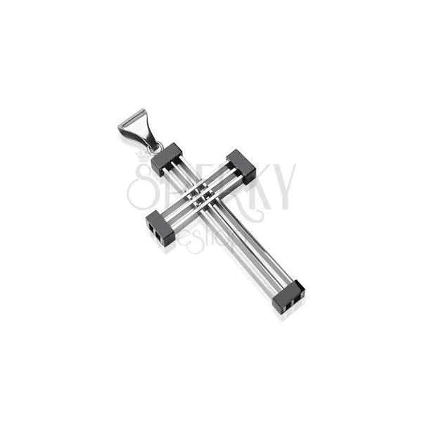 Surgical steel geometric cross