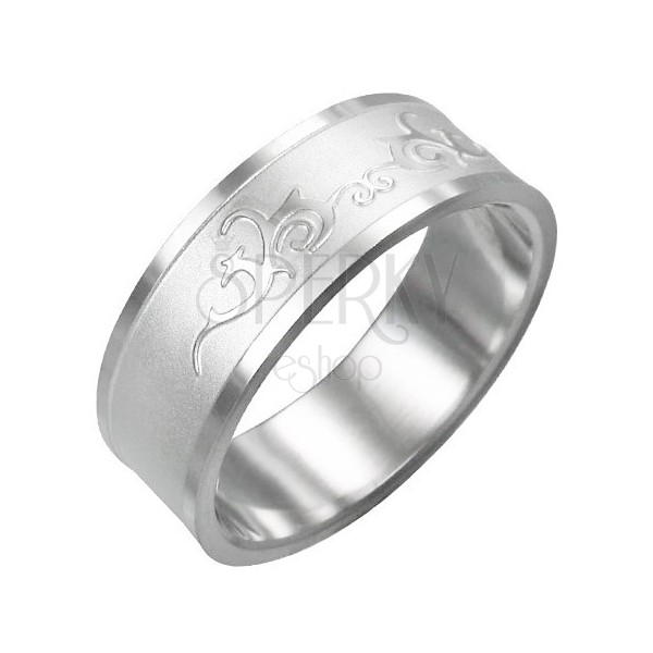 Stainless steel ring - shiny ornament
