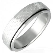Chessboard spinner stainless steel ring