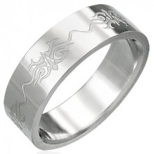 Stainless steel ring with ornaments