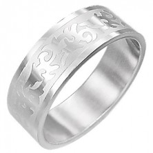 Stainless steel ring - TRIBAL SYMBOL