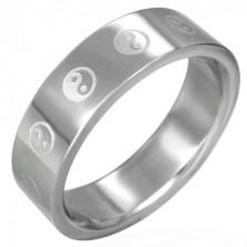 Yin - Yang ring made of steel