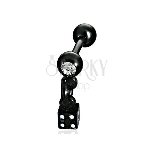 Dangle dice labret