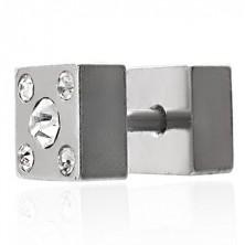 Reversible fake plug -with zircons