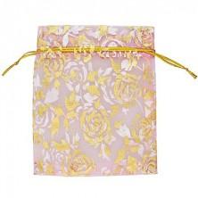 Gift bag - textile bag, pink