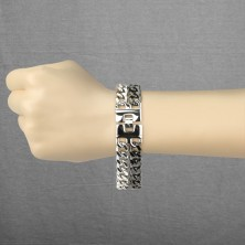 Double black - silver surgical steel bracelet