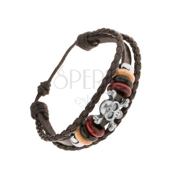 Dark Brown Leather Multi Strings Bracelet