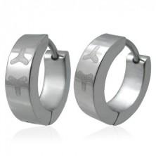 Stainless steel earrings - hoops with Y-letters