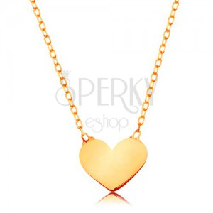 love plain market romantic il flat sweethearts valentine etsy heart charm necklace gold over pendant s plated solid