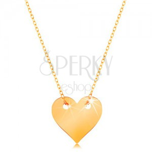 chain genuine sterling s image flat itm inches heart pendant silver necklace is loading