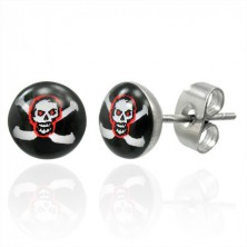 Pirate skull stainless steel earrings