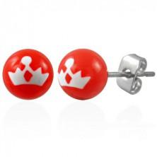 Stainless steel earrings - princess crown