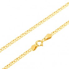 Gold chain - shimmering flat double link, 440 mm