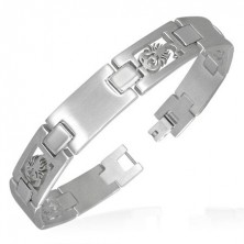 Stainless steel scorpion link bracelet