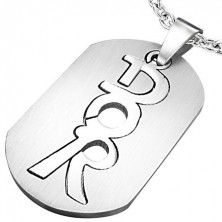 Stainless steel pendant - dog tag, DOR