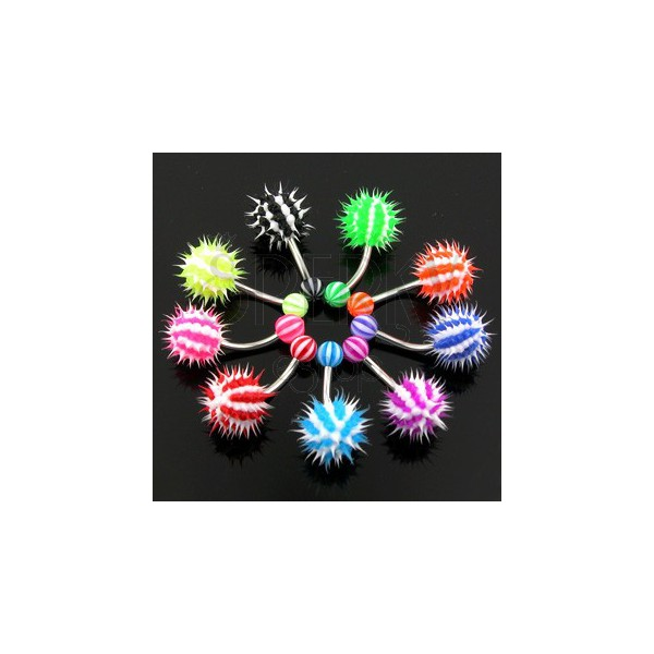 Colorful belly ring - hedgehog