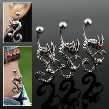 Dragon belly button ring