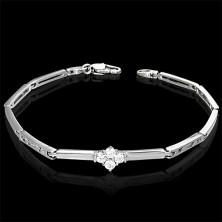Fine women's bracelet with zirconic flower