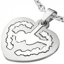 Heart tag pendant