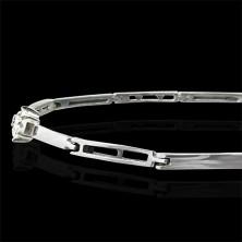 Women's bracelet with four zircons - various links