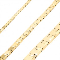 Gold tungsten bracelet, shiny smooth Y-joints, magnetic balls