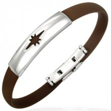 Bangle made of rubber - brown, star