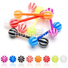 Candy ball tongue barbell