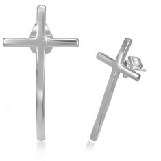 Studs made of stainless steel - narrow cross with glossy surface