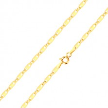 585 gold chain - vertically connected oval and oblong rings, rectangle, 500 mm
