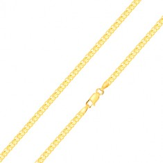 Bracelet made of 585 gold – serial eyelet connection, 200 mm