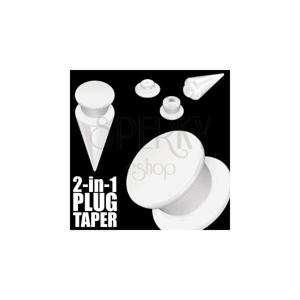 Taper and plug 2 in 1 white