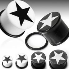 Ear plug with star symbol