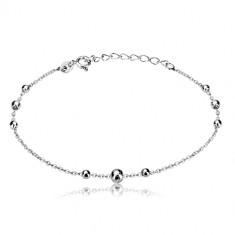 925 silver bracelet - chain of oval rings and glossy balls