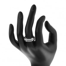 Fiber pattern tungsten ring