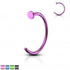 Piercing coloured horseshoe - anodized titanium, glossy finish, 0,6 mm